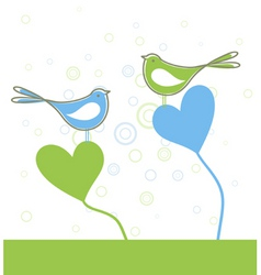 love of birds vector image