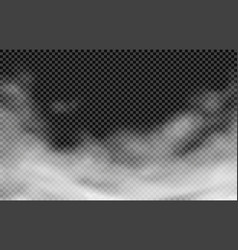 mist on transparent background vector image