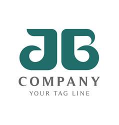 Modern ab letter logo template for beauty vector