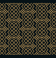 modern geometric tiles pattern golden lined vector image