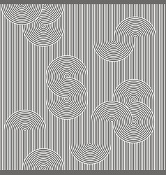 Monochrome background striped loopy ribbon vector
