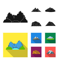 Mountains in the desert a snowy peak an island vector