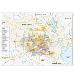neighborhood map houston texas vector image