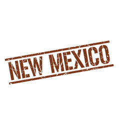 New mexico brown square stamp vector