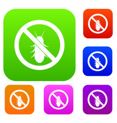 No termite sign set collection vector