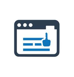 Online keyword icon vector
