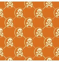 Orange Skull Pattern vector image