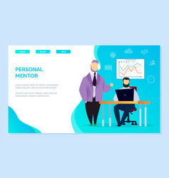 Personal mentor or business coach for student vector