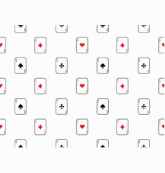 Playing card seamless pattern vector