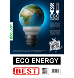 realistic eco energy poster vector image