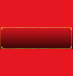 Red circle with rhombus abstract banner vector