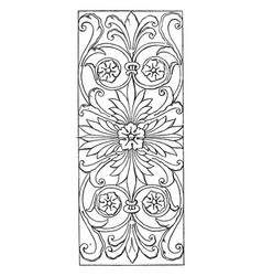 renaissance oblong panel is a design found on vector image