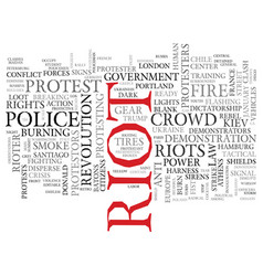 Riot word cloud concept vector