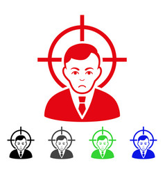 Sad victim businessman icon vector