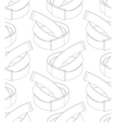seamless pattern with belts on white background vector image