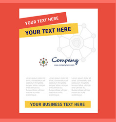 Sheild protected title page design for company vector