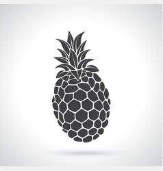 silhouette pineapple vector image
