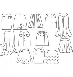 Skirts vector