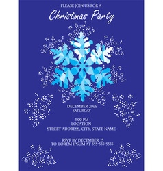 snowflake invitation vector image