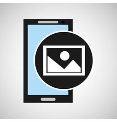 Social media mobile app picture photo vector