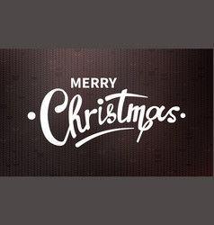 stock calligraphic text merry vector image