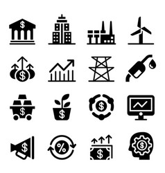 Stock market investment icons vector