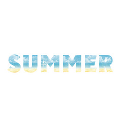 summer in double exposure vector image