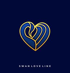 swan luxury design template vector image