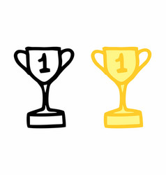 trophies freehand vector image