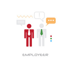 two businessmen employees recruitment concept flat vector image
