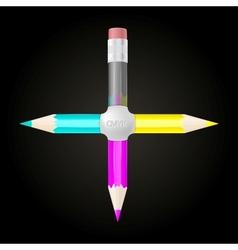 united cmyk pencils vector image
