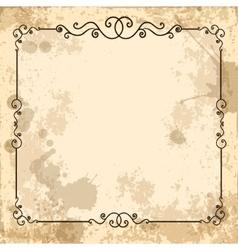 Vintage design elements on old paper sheet vector image