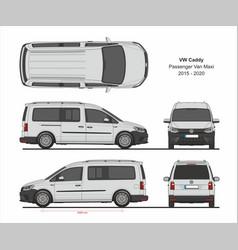 vw caddy maxi passenger van 2015-present vector image