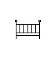 web line icon crib black on white background vector image