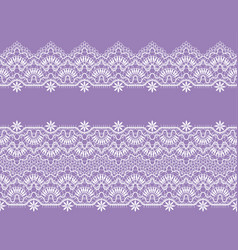 White lace ribbons vector
