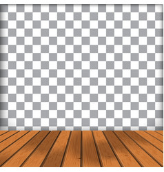 Wood floor with transparent vector