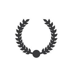 wreath award icon vector image
