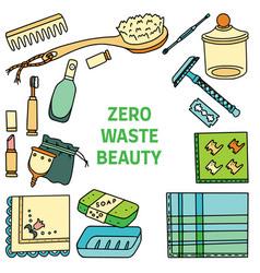 Zero waste similar vector