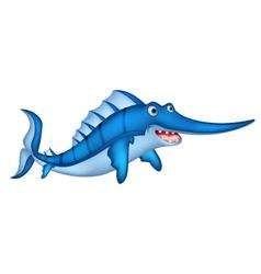 blue marlin cartoon vector image vector image