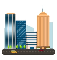 Business smart city life concept capital vector
