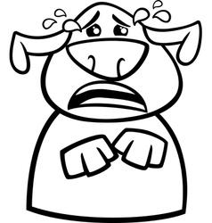 crying dog cartoon coloring page vector image vector image