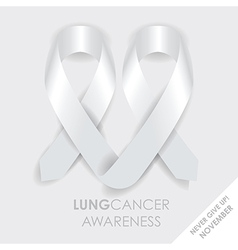 lung cancer ribbon vector image vector image