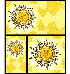 Sun Backgrounds vector image vector image
