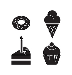 Sweets Silhouettes vector image vector image