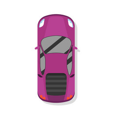 Top view modern sport car isolated icon vector
