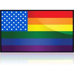 USA rainbow flag vector image vector image