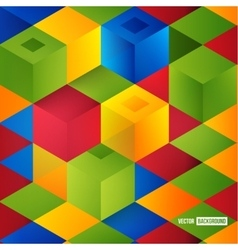 Abstract geometric shape from cubes vector image vector image
