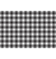 Black white check plaid texture seamless pattern vector image vector image