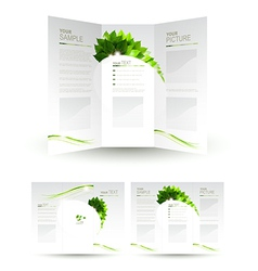 Eco brochure vector