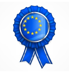 European award ribbon vector image